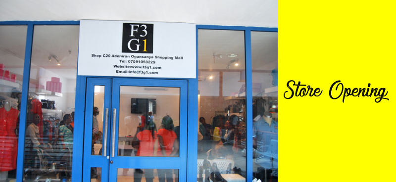 F3G1 Store opening 1st April 2012