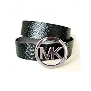 Michael Kors Patent Black MK Female Belts