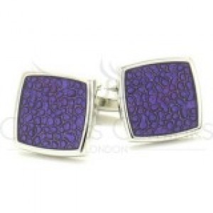 F3G1 Purple Mottled Pattern Cufflinks