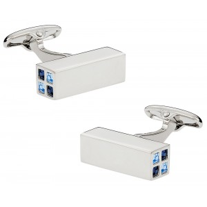 F3G1 Blue Diamante Prism Cufflinks.