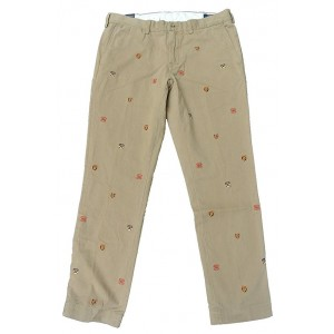 Polo Ralph Lauren Men's Slim Fit Crest Embroidered Khaki Chinos Pants
