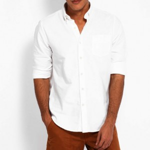 Timberland White Solid Casual Shirt