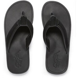 Ralph Lauren Mens Sullivan Leather Slippers