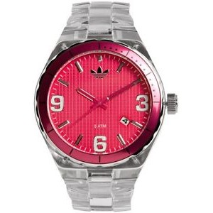 Adidas Women's Cambridge Nylon Watch with Red Dial