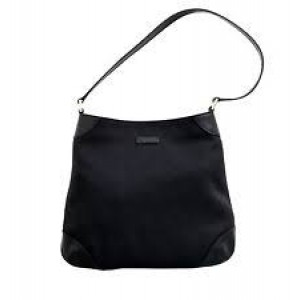 Gucci Canvas Black Capri Hobo Shoulder Bag