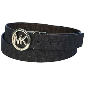 Michael Kors Mk Signature Monogram Belt and Reversible Buckle