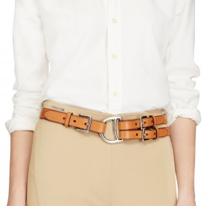 Lauren Ralph Lauren Female Leather Concho Tri-Strap Belt