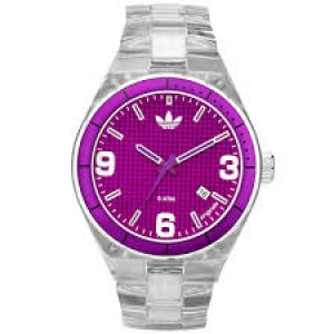 Adidas Women's Cambridge Nylon Watch with Purple Dial