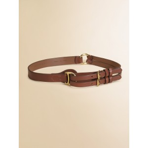 Polo Ralph Lauren Vachetta Tri-Strap Leather Belt