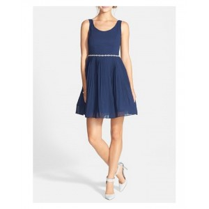 A.drea Pleated Fit and Flare dress