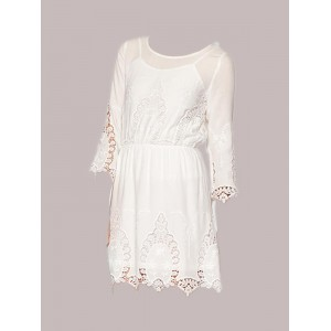 Ark & Co. Embroidered Eyelet Dress