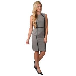 Calvin Klein Sleeveless Checker Print Shift Dress