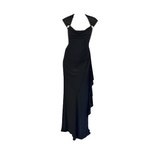 R&M Richards Laced Shoulder Evening Gown