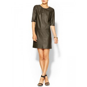 Tinley Road Faux Leather Shift Dress