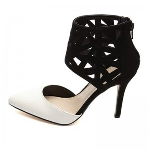 Charlotte Russe Anne Michelle Laser Cut-Out Color Heel pump