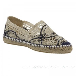 Gaimo for OFFICE Alp Espadrille Navy Cream Canvas