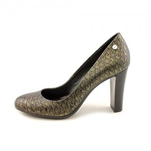 Calvin Klein Olive 2 Womens Leather Pumps Heel