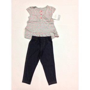 Carters 2 Piece Girls Outfit