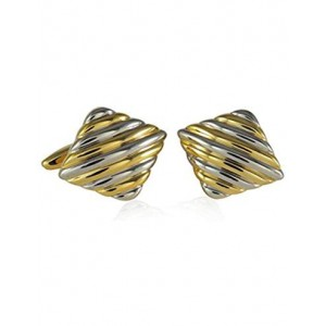 F3G1 Unisex 2 Toned Gold and Silver Cufflink