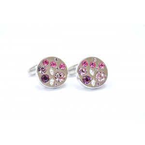 F3G1 Diamante Purple Stone Cufflinks