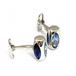 F3G1 Sapphire Blue and Purple Tone Cufflinks for Men.