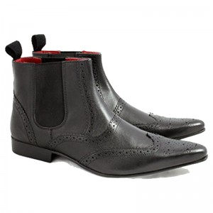 Red Tape Midford Brogue Mens Chelsea Ankle Boots