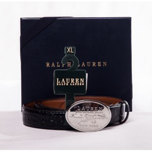 Ralph Lauren Black Embossed Belt