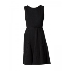 Calvin Klein Womens Belted Cotton Stretch Dress