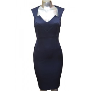 Connected Apparel Sleeveless Sculpted Sheath Dress