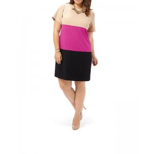 Jessica Howard Short Sleeve Colorblock Sheath Dress