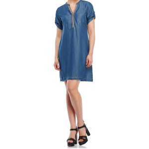 Spense Short Sleeve Denim Dress
