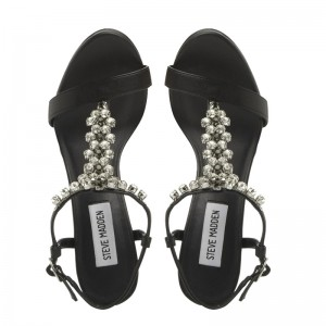 Steve Madden Black Alizza Embellished sandals